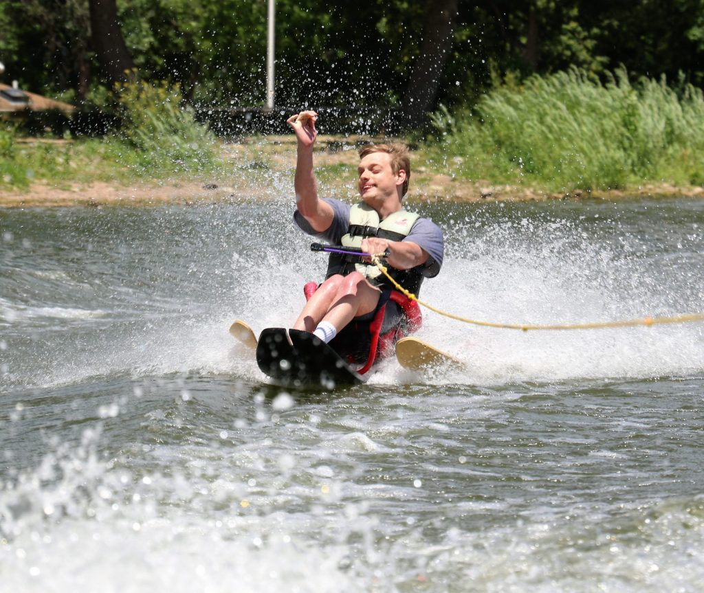 another satisfied water skier!