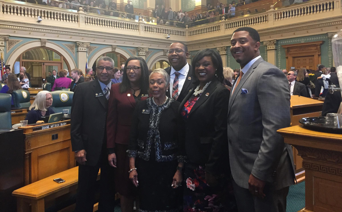 Members of the black caucus. It's the largest ever, including two black lawmakers in the Senate (not pictured).