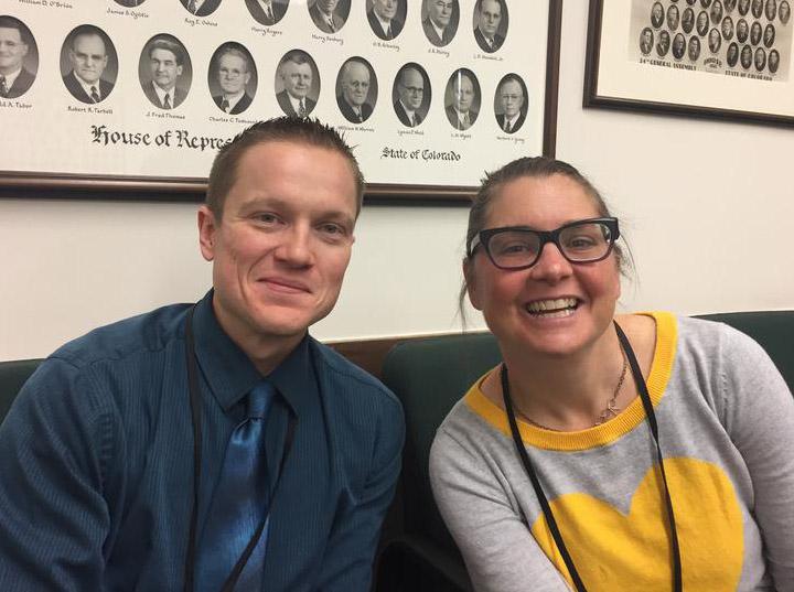 Luke Perkins of the Durango Herald and Kristen Wyatt of the Associated Press.