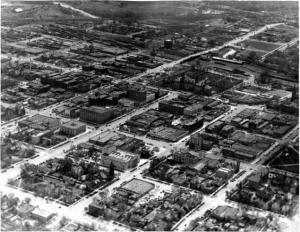 Aerial View of Colorado Springs, circa 1935.