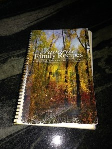 A book of family recipes, given as a gift to Polly Dunn by her members of her family after the fire.