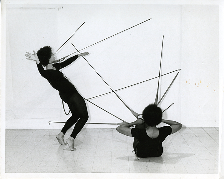 Senga Nendudi, R.S.V.P. Sculptures activated by the artist and Maren Hassinger in Performance Piece – Nylon Mesh and Maren Hassinger, 1977