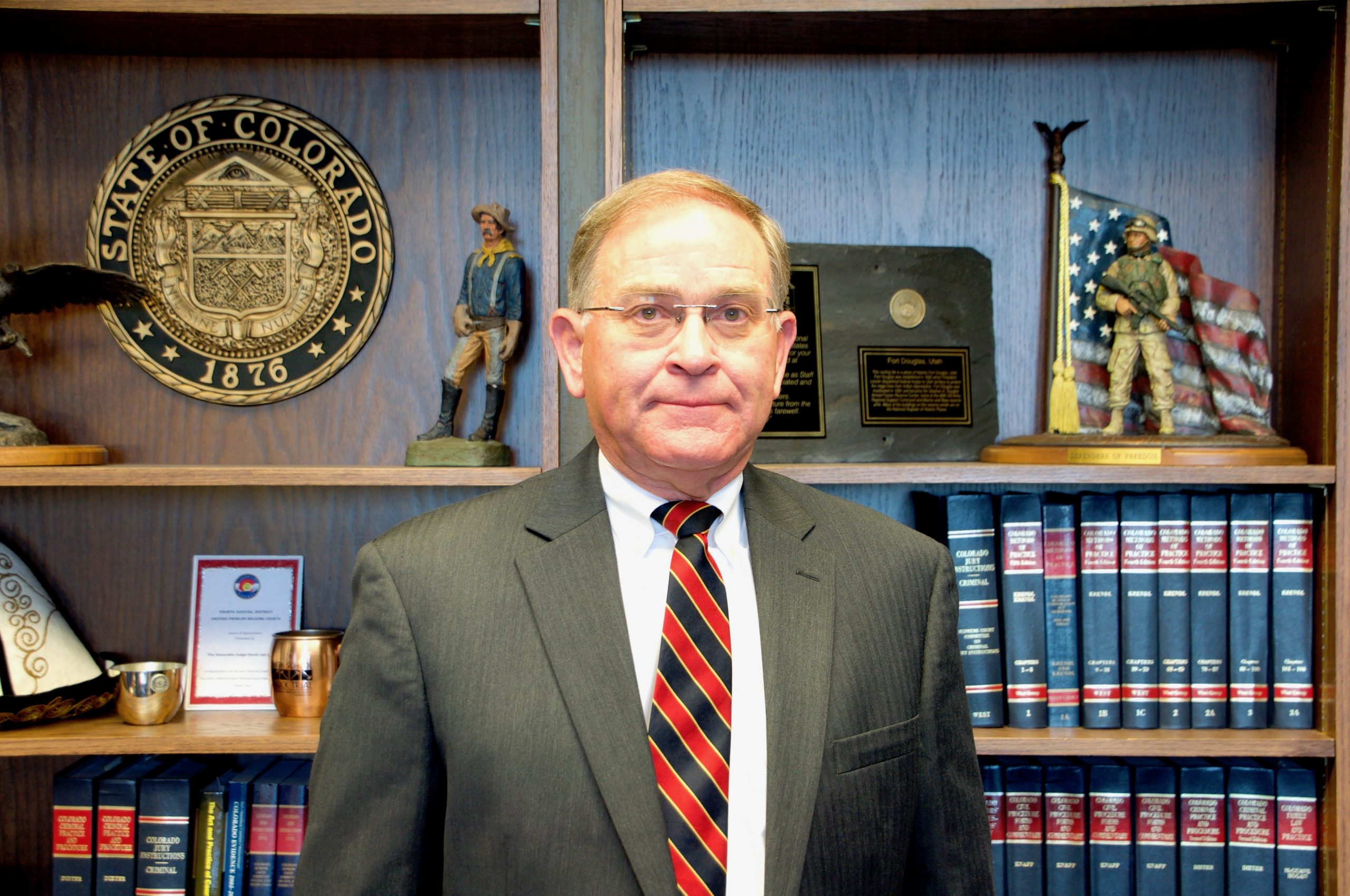 Judge David Shakes oversees the 4th Judicial District Veterans Trauma Court. He is a veteran himself, having retired from the Army Reserves in 2008 after 33 years of service.