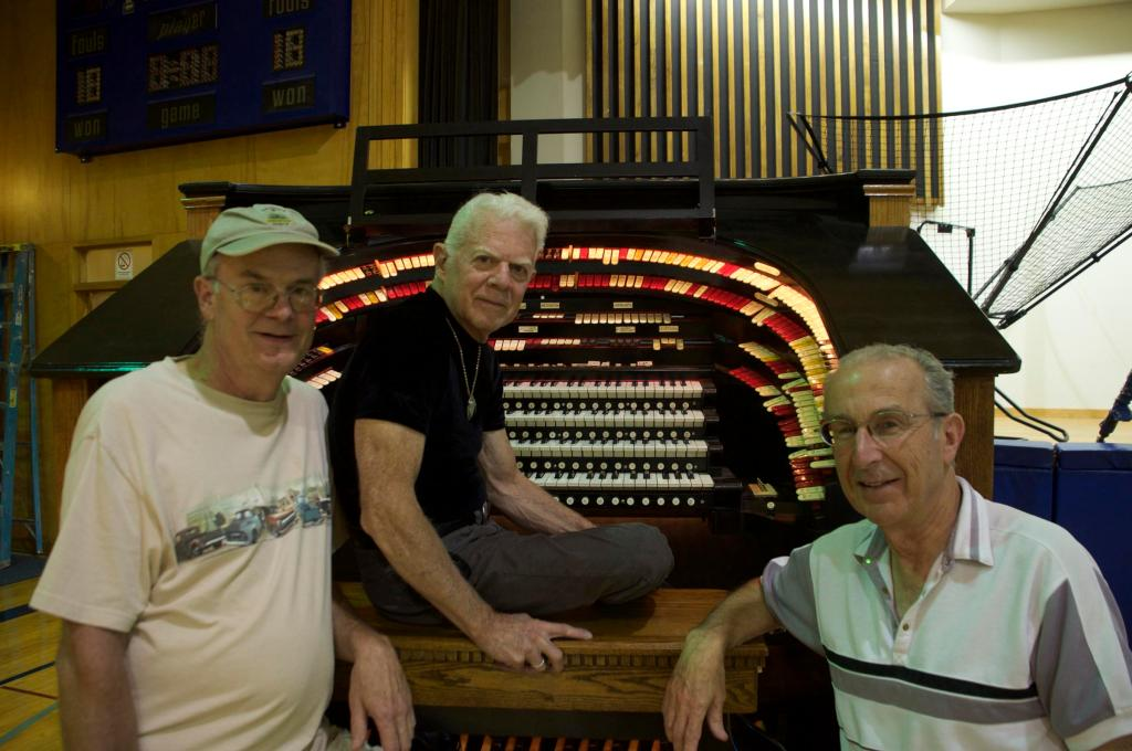 Pikes Peak Area Theater Organ Society Members (left to right) Dave Weesner, Keith Roberts, and Stan Destefan.