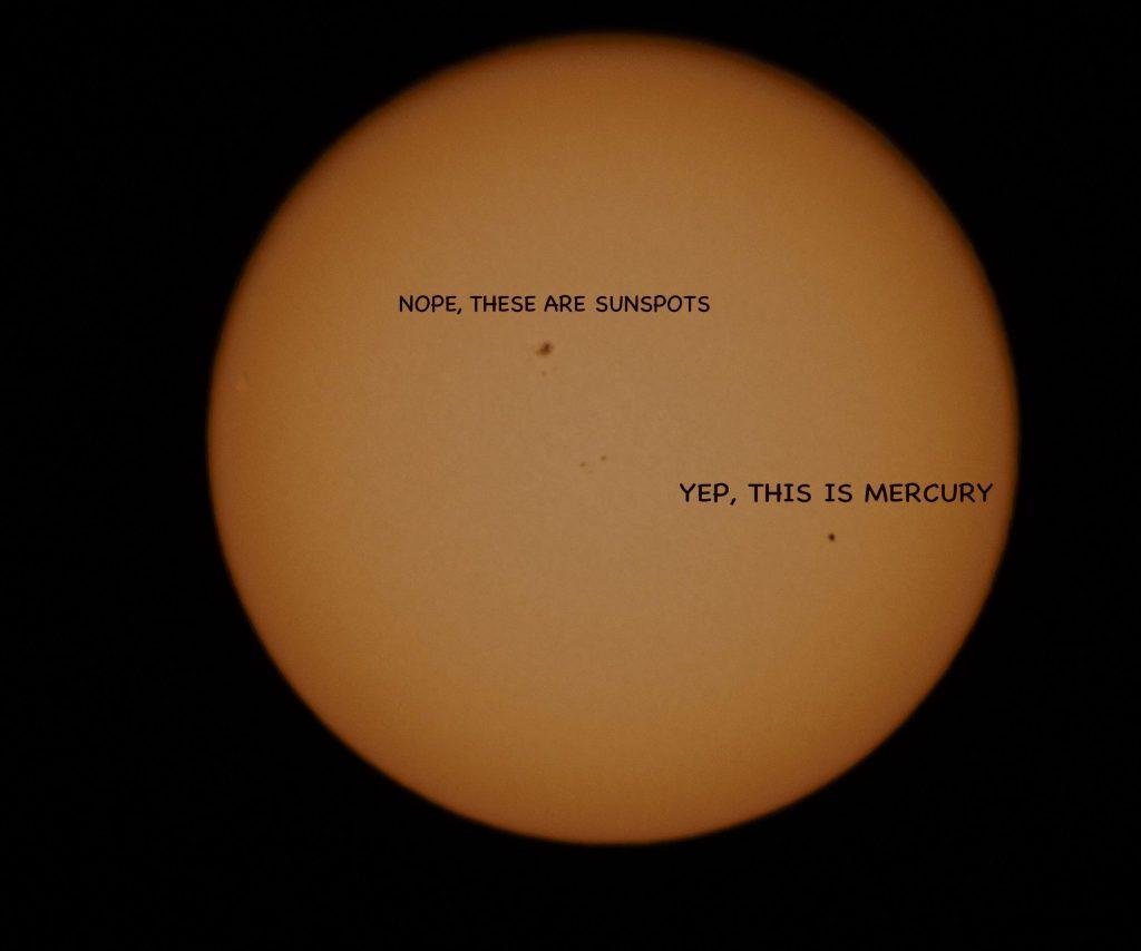 Transit of Mercury across the sun (May, 2016)
