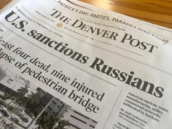 Today's Denver Post newspaper