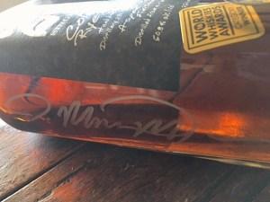A signed, sealed and delivered bottle of Distillery 291 rye.