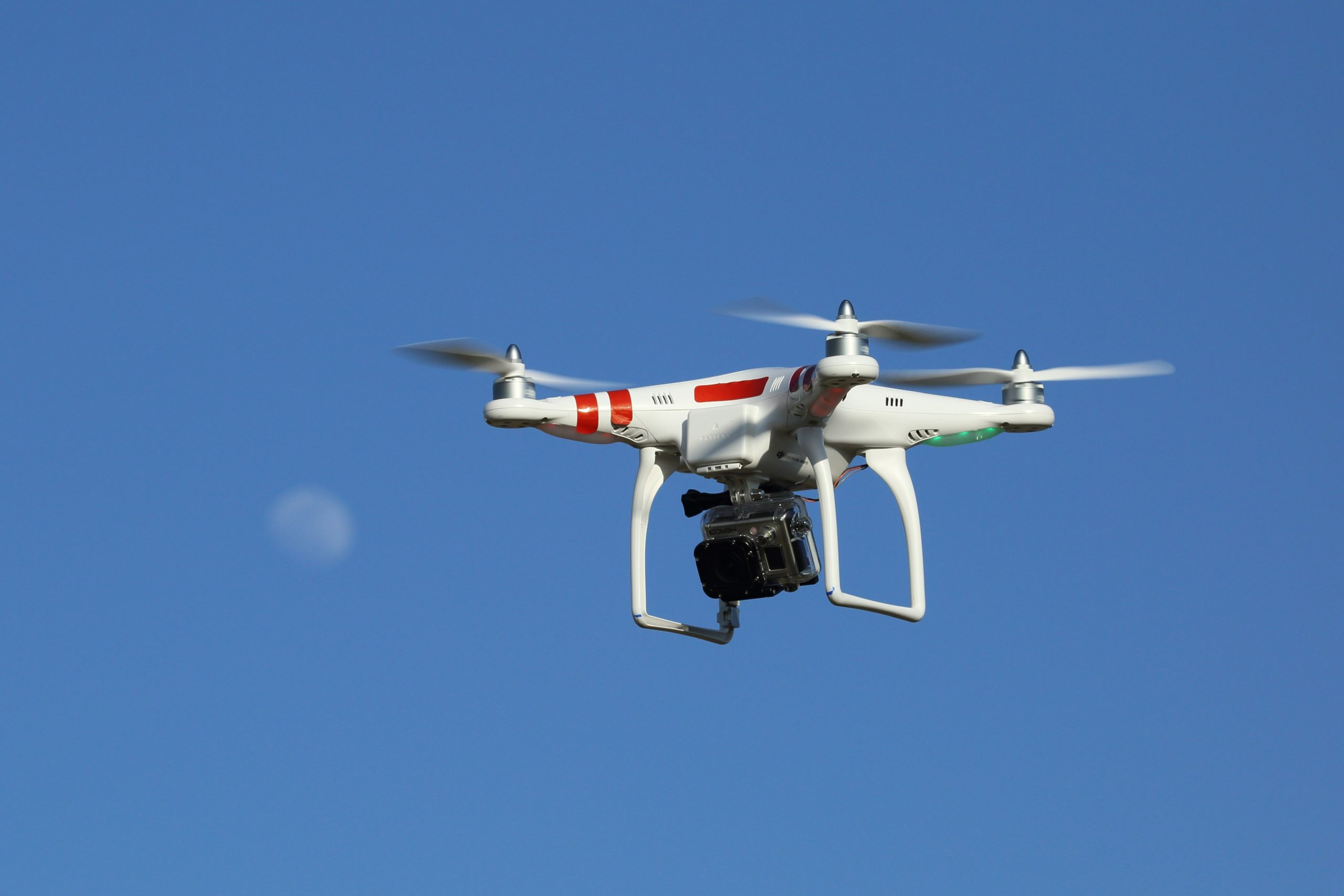 Drone and moon
