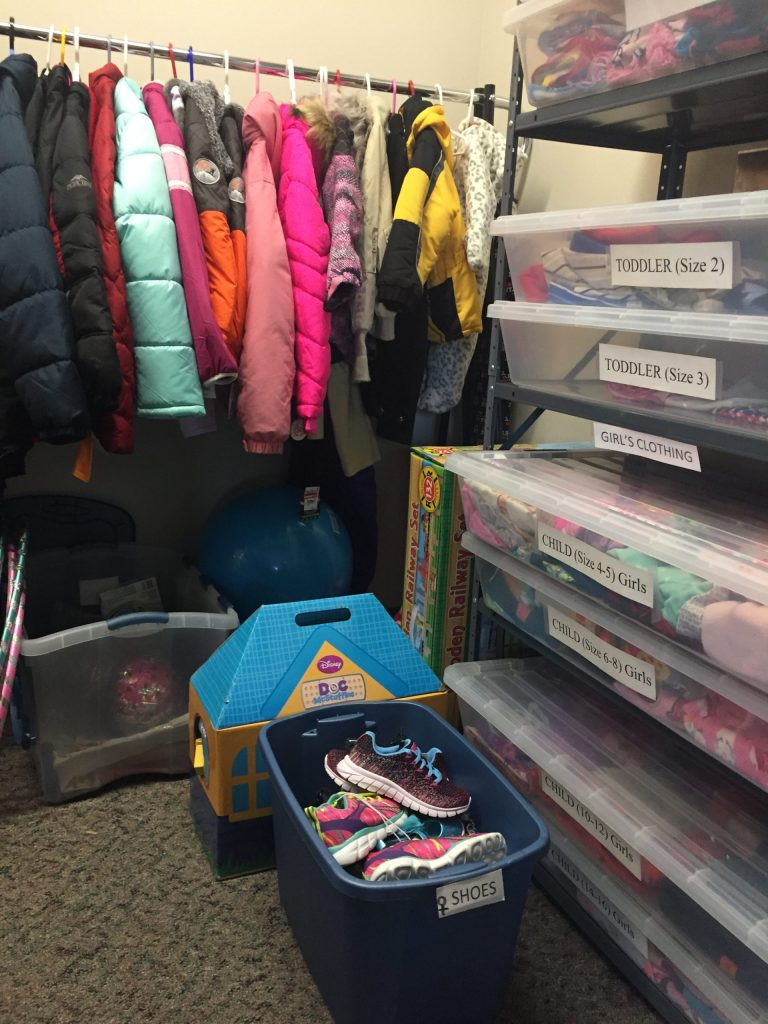The Kid's Closet is where CASA volunteers can go to pick up needed items or gifts for foster kids they are serving.