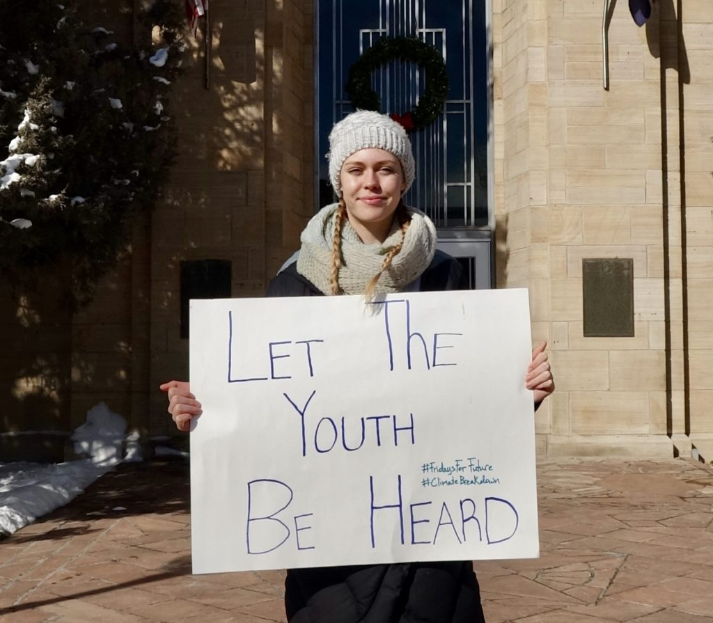 Marlow Baines is a teenage activist with Earth Guardians in Boulder, Colorado.