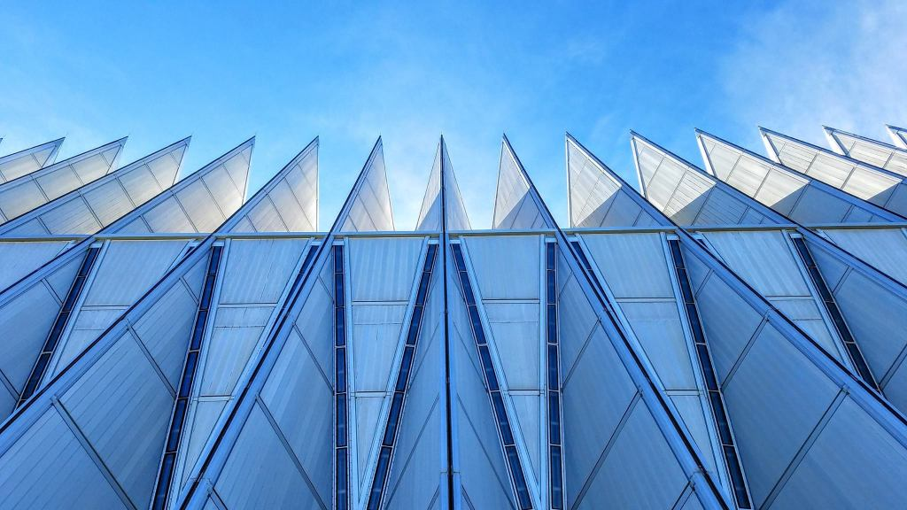 The spires of the Air Force Academy Cadet Chapel.
