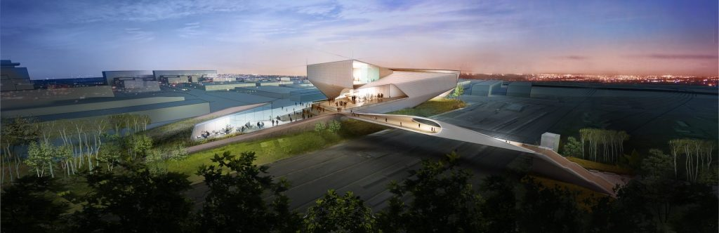 A rendering of the U.S. Olympic Museum.