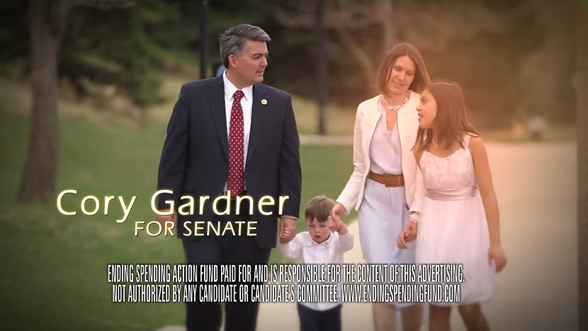 <p>Ending Spending Action, a Super PAC that supports Republican Senate candidate Cory Gardner, will air ads to that effect during the Broncos game this Sunday.</p>