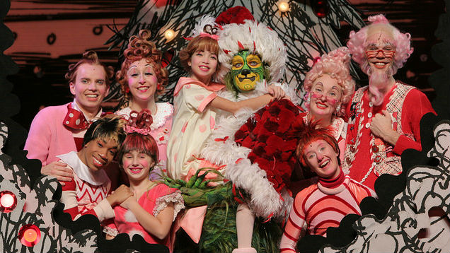 """<p>""""Dr. Seuss' How the Grinch Stole Christmas"""" musical cast members</p>"""