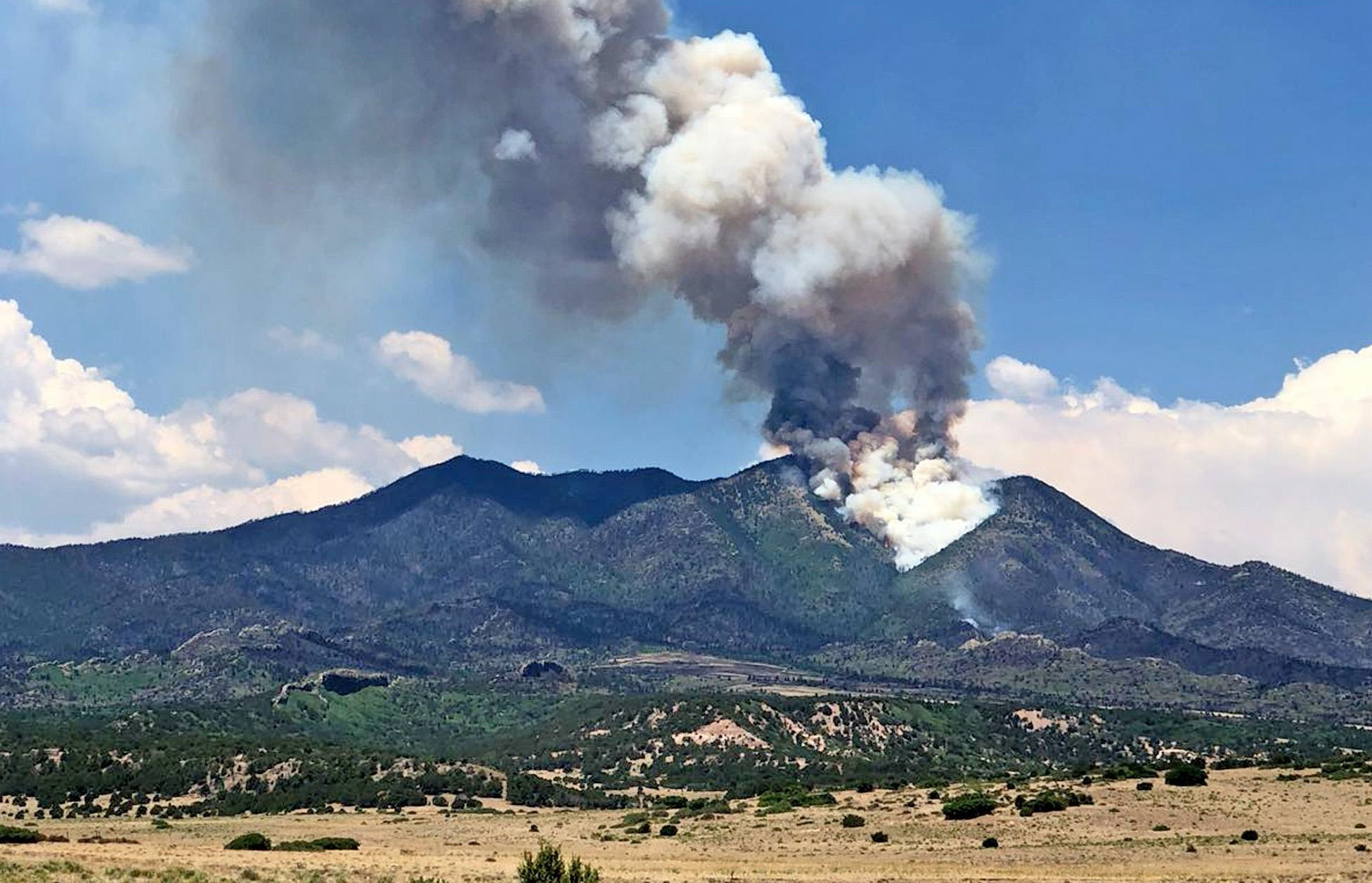<p>A flare-up of the Spring Creek Fire on Silver Mountain, July 8, 2018.</p>