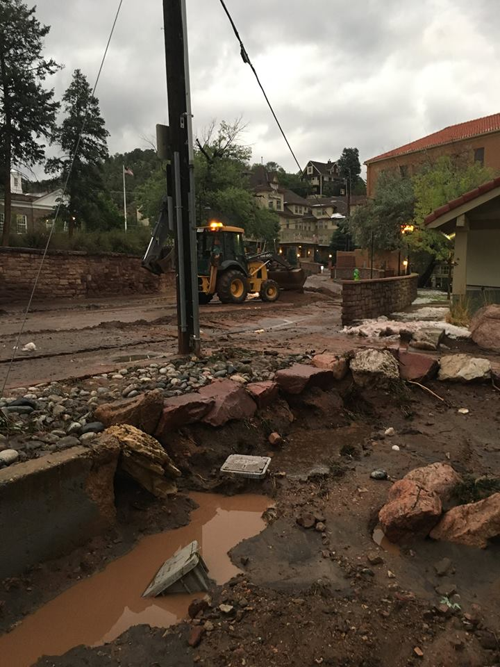 <p>Flooding and mudslides temporarily shut down U.S. highway 24 near Manitou Springs on July 23, 2018. </p>