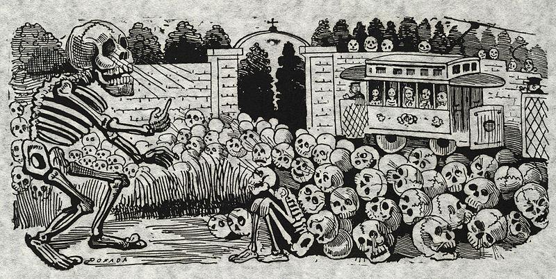 "<p>""Gran calavera eléctrica"" (Grand electric skull) by Jose Guadalupe Posada</p>"