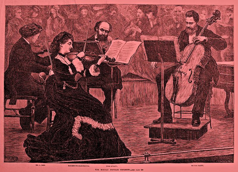 <p>A string quartet led by violinist Wilma Neruda.</p>
