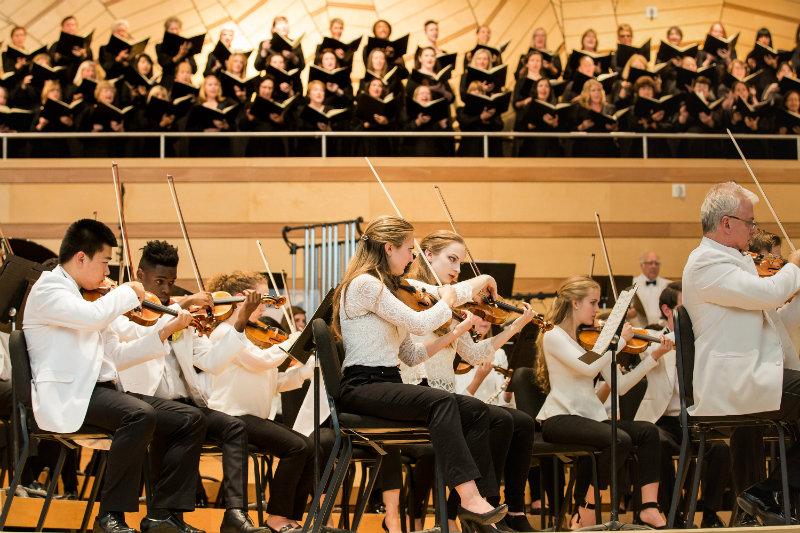 <p>The festival orchestra performs at Aspen Music Festival & School.</p>