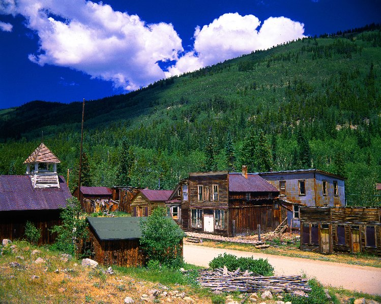 <p>A photo of Main Street in St. Elmo, a well-preserved Colorado ghost town located between Gunnison and Salida.</p>