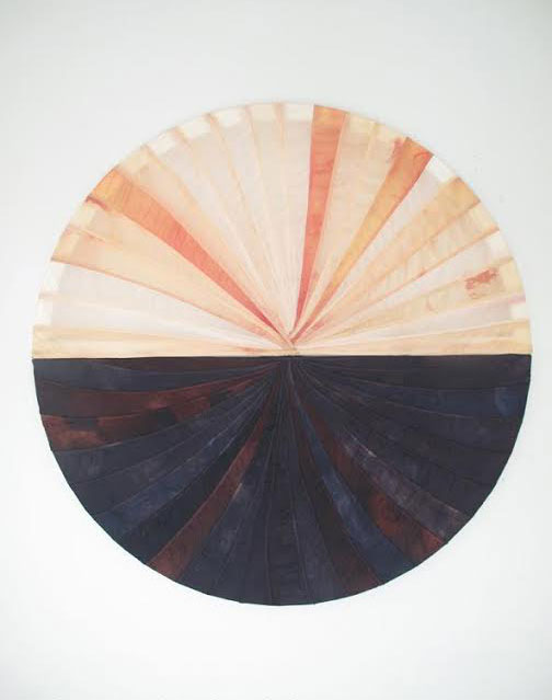 """<p>Carla Edwards' """"Untitled"""" was made from recycled American flags. Edwards is one of twelve artists featured in """"Boundary Battle.""""</p>"""