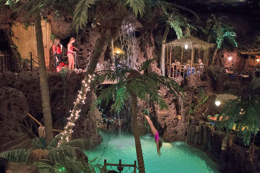 <p>The landing pool for cliff divers at Casa Bonita.</p>