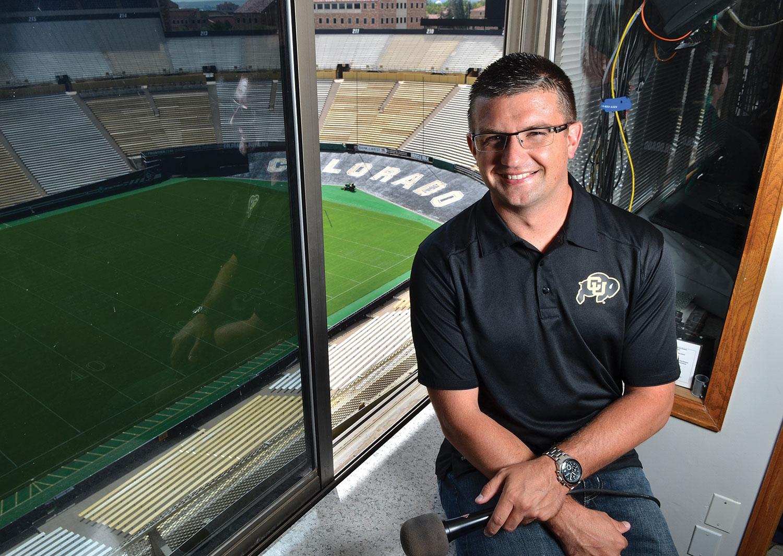 <p>The Broncos' new stadium announcer, Conor McGahey, also calls games for the Colorado Buffs football team.</p>