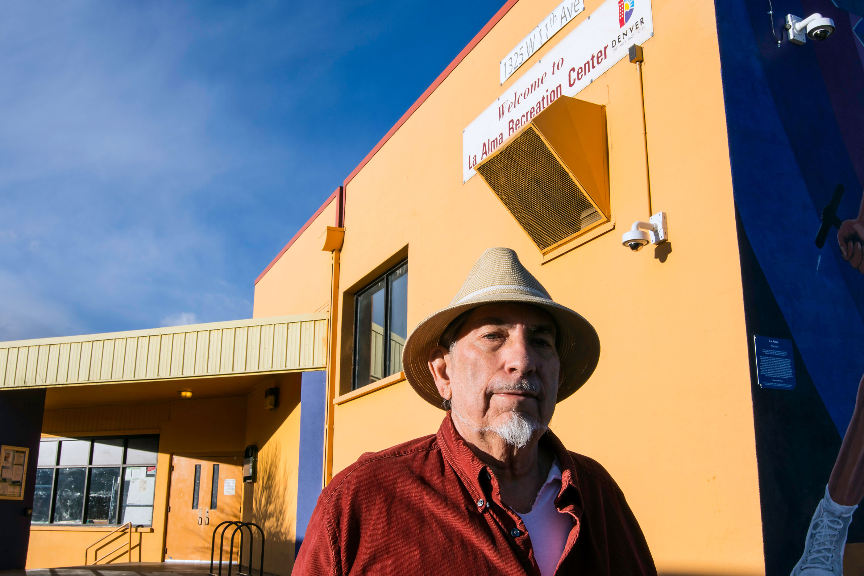 "<p>Esequiel ""Kelly"" Lovato, Jr., stands outside Denver's La Alma Rec Center, Monday, Dec. 4, 2017. Lovato helped start the center in a nearby maintenance shed with other Chicano activists more than 40 years ago.</p>"