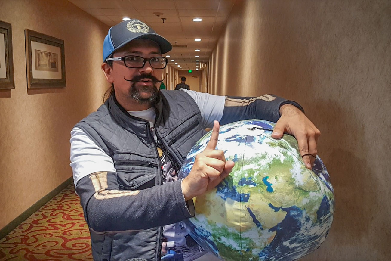 "<p>Miguel Angel, a former <span style=""color: rgb(64, 69, 64);"">U.S. Marine</span> sergeant from Dallas, Texas, isn't a full-fledged flat Earther. He instead refers to himself as an observational scientist and considers the state of the world to still be an open question.</p>"