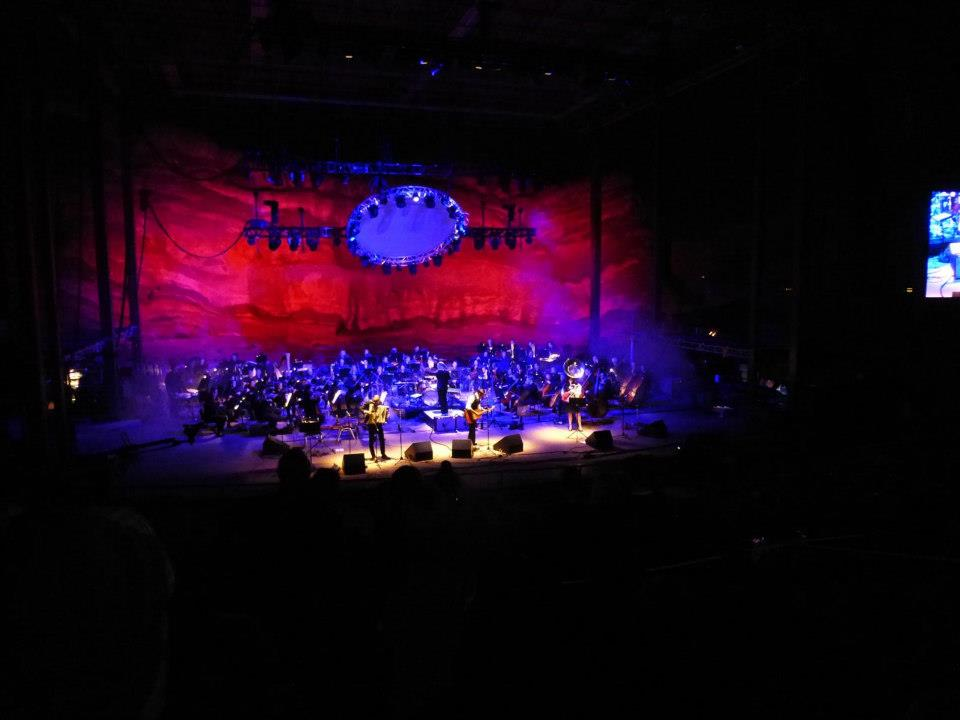<p>DeVotchKa at Red Rocks with the Colorado Symphony in 2012.</p>