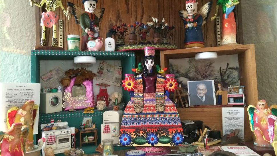 <p>A Dia de los Muertos altar in memory of Teodora Hernández and José de Jesus Hernández</p>
