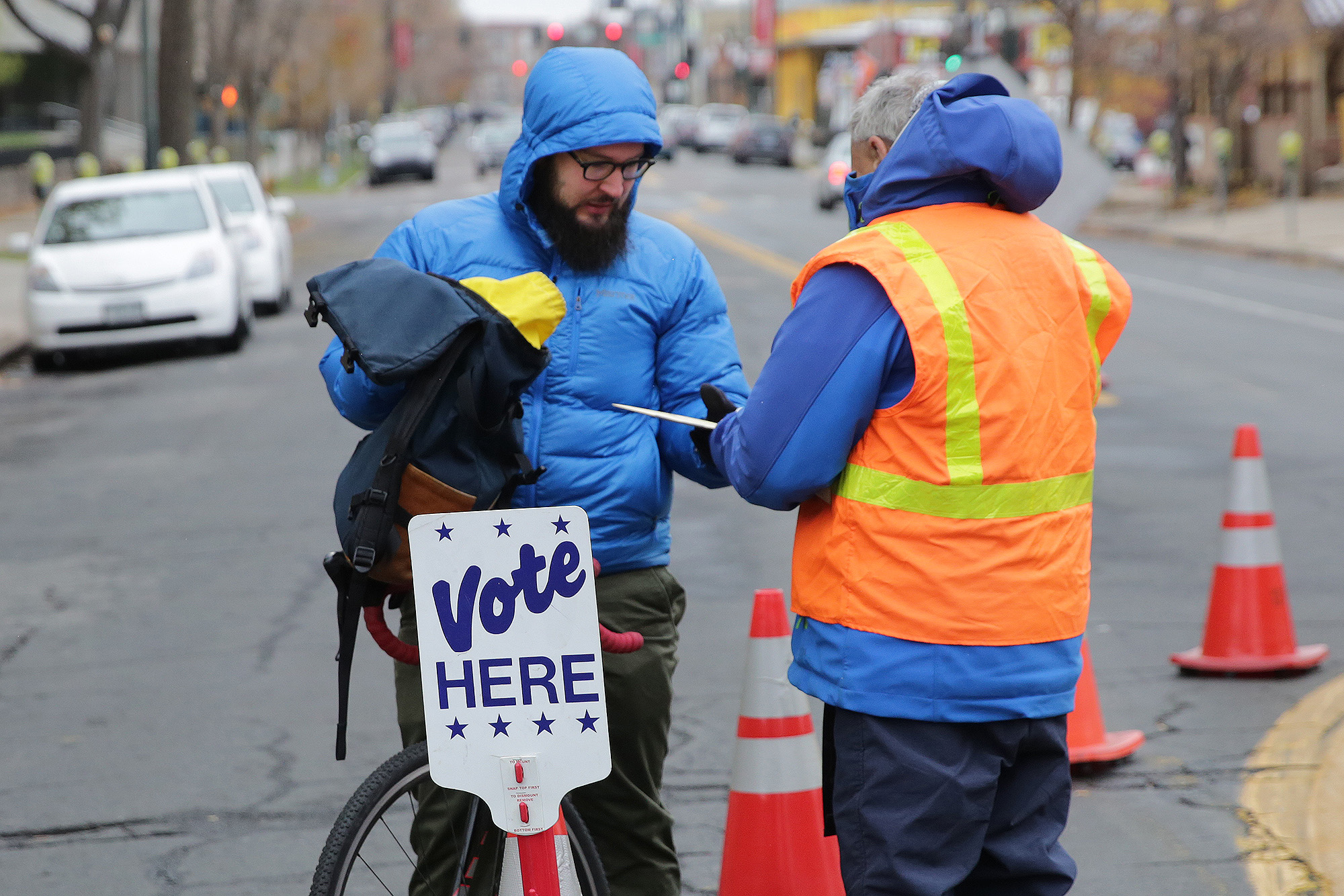 "<p><span style=""color: rgb(64, 69, 64);"">The ballot drop off station on Bannock Street in downtown Denver on Election Day 2017.</span></p>"
