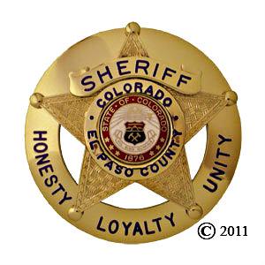 <p>El Paso County Sheriff's badge</p>