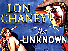 """<p>Film poster for the 1927 film """"The Unknown"""" starring<span style=""""line-height: 1.66667em;"""">Colorado Springs native</span><span style=""""line-height: 1.66667em;"""">Lon Chaney.</span></p>"""