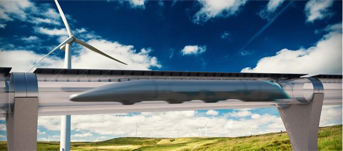 """<p>An artist's rendering of a """"hyperloop.""""</p>"""