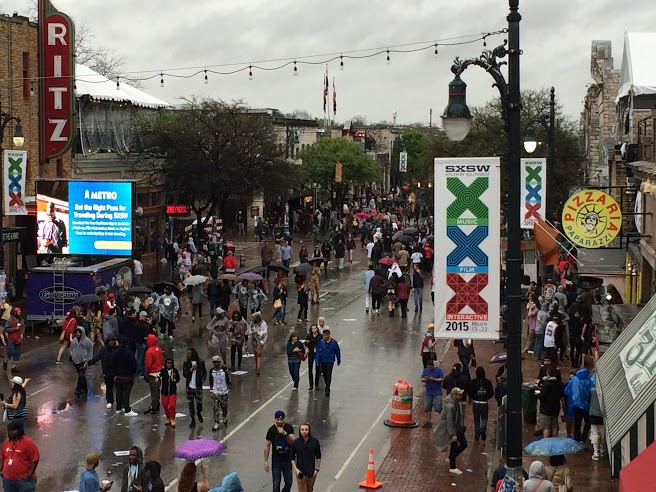 <p>A rainy day in Austin for day four of SXSW 2015</p>