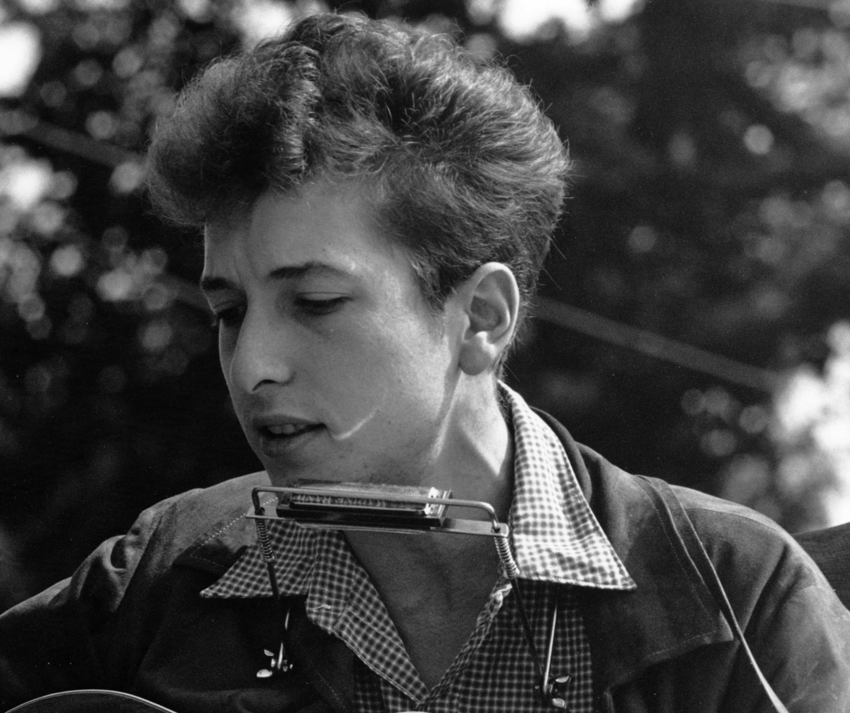 <p>Bob Dylan at the Civil RightsMarch on Washington, D.C., in 1963.</p>