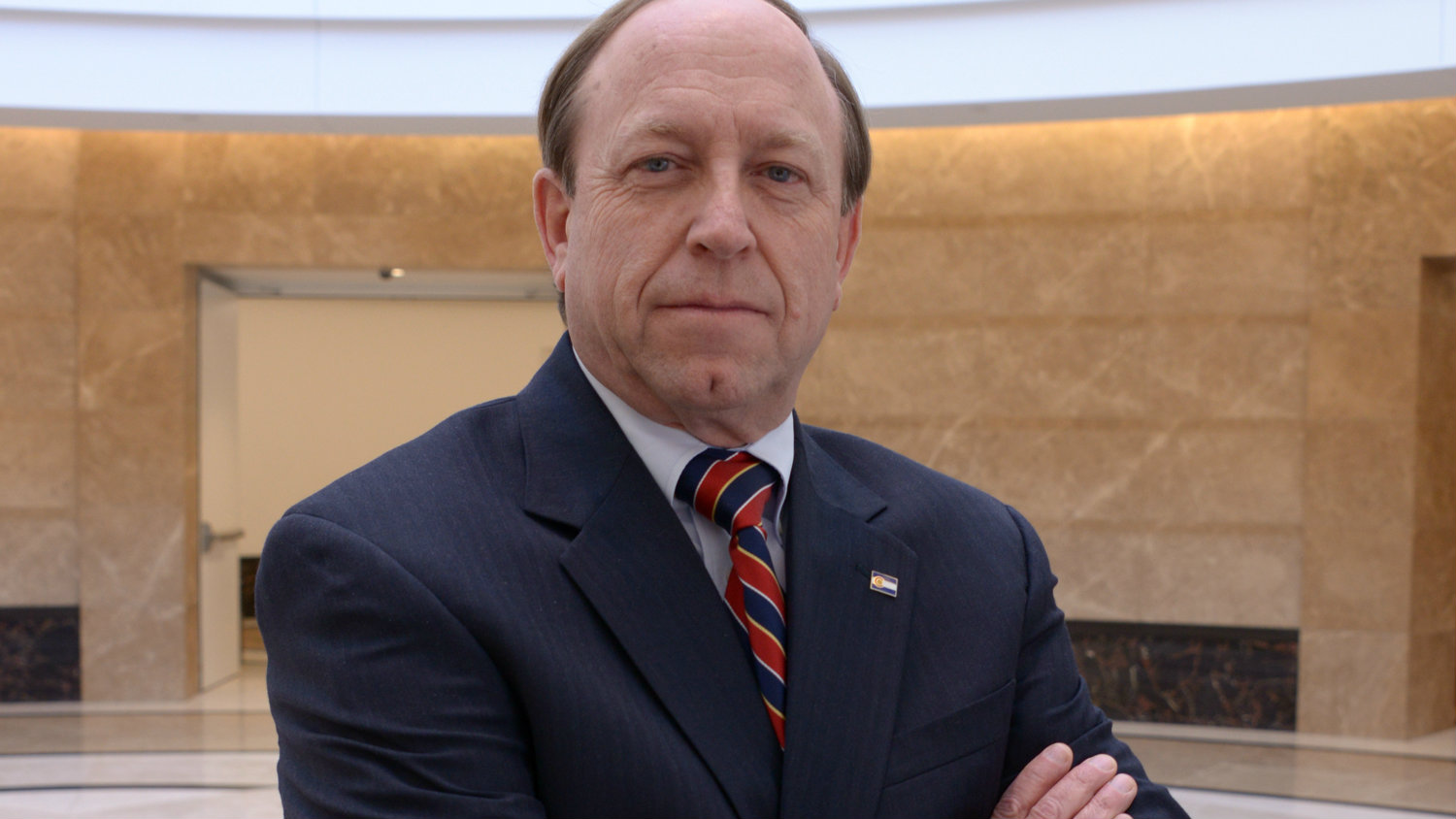 <p>Colorado Attorney General John W. Suthers in the Capitol rotunda.</p>