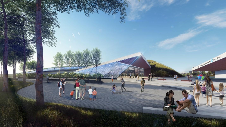 <p>Concept artfor a Virgin Hyperloop One station near Denver International Airport.</p>