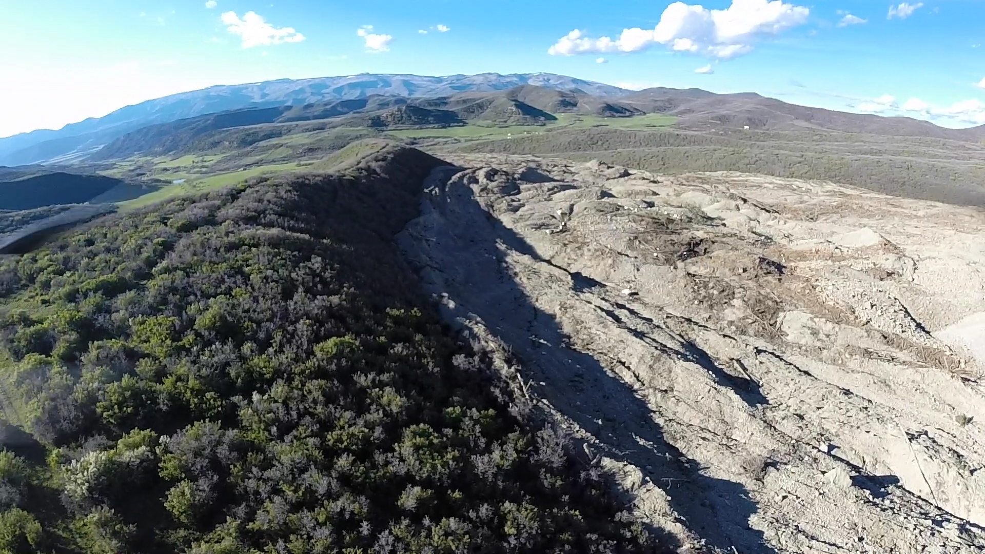 <p>A view of the mudslide area taken by UAV by the Mesa County Sheriff's Office on Monday, May 26, 2014.</p>