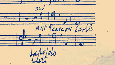 """<p>""""Peace on Earth,"""" in Handel's own hand, from the score of <em>Messiah</em>.</p>"""
