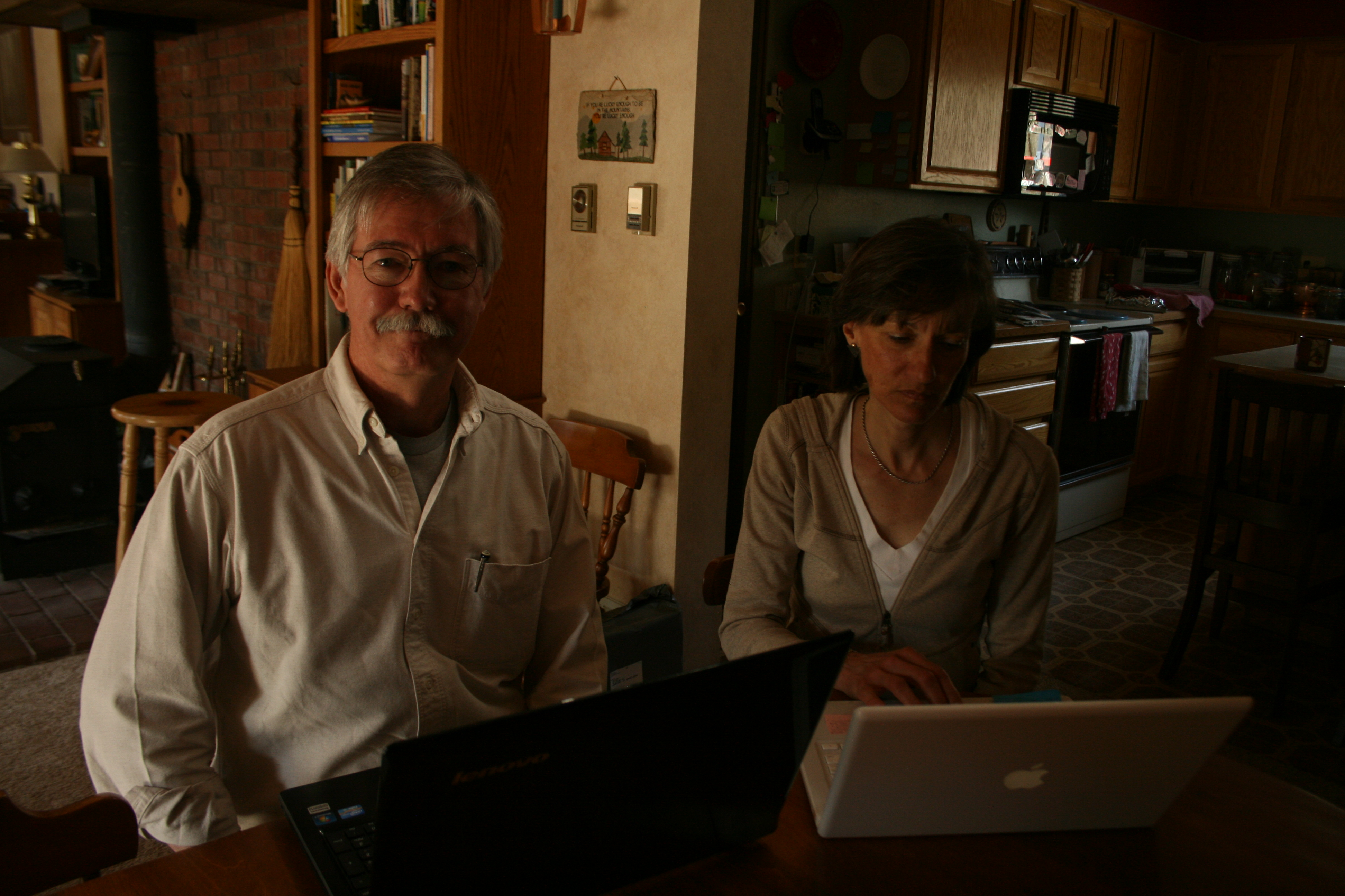 <p>Mike and Tammy Story face slow broadband speeds at home in Morrison.</p>