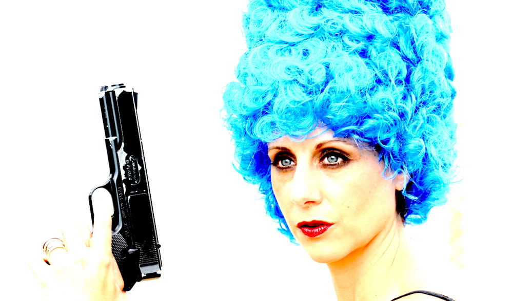 """<p>Meridith C. Grundei as Marge Simpson in""""Mr. Burns: a post-electric play""""</p>"""