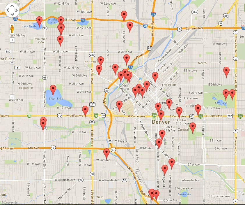 """<p>A screenshot of the """"One Day in Denver"""" geo-tagging video map.</p>"""