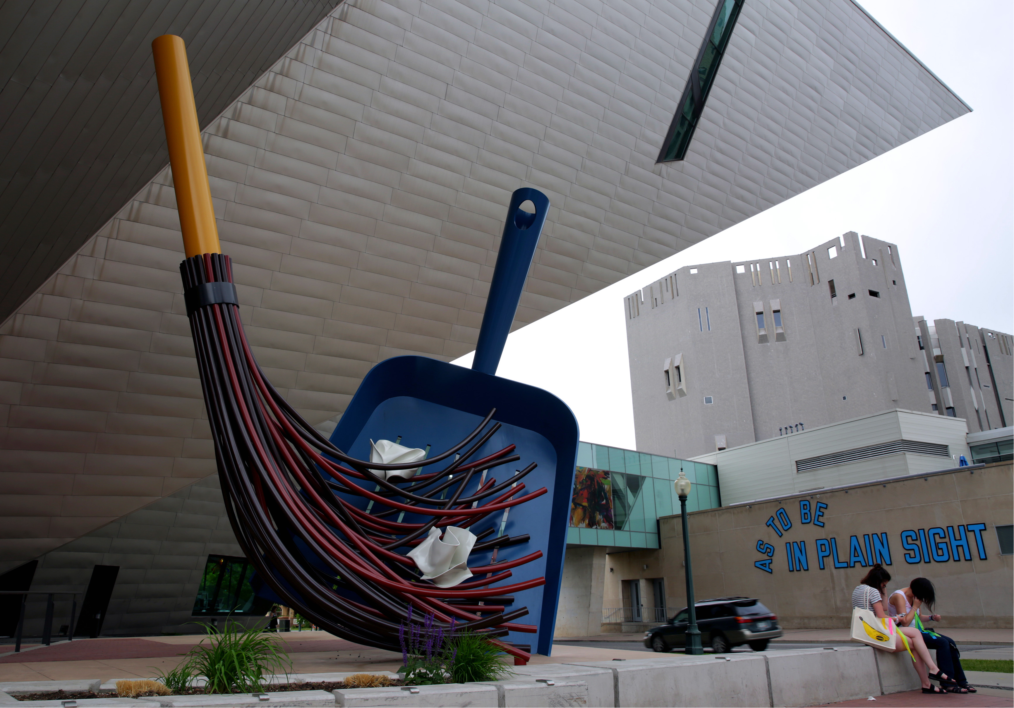 "<p><span style=""color: rgb(64, 69, 64); background-color: rgb(255, 255, 255);"">The ""Big Sweep"" </span> sits outside the Denver Art Museum in the Golden Triangle neighborhood, which was certified as a creative district by the state of Colorado in June 2016.</p>"