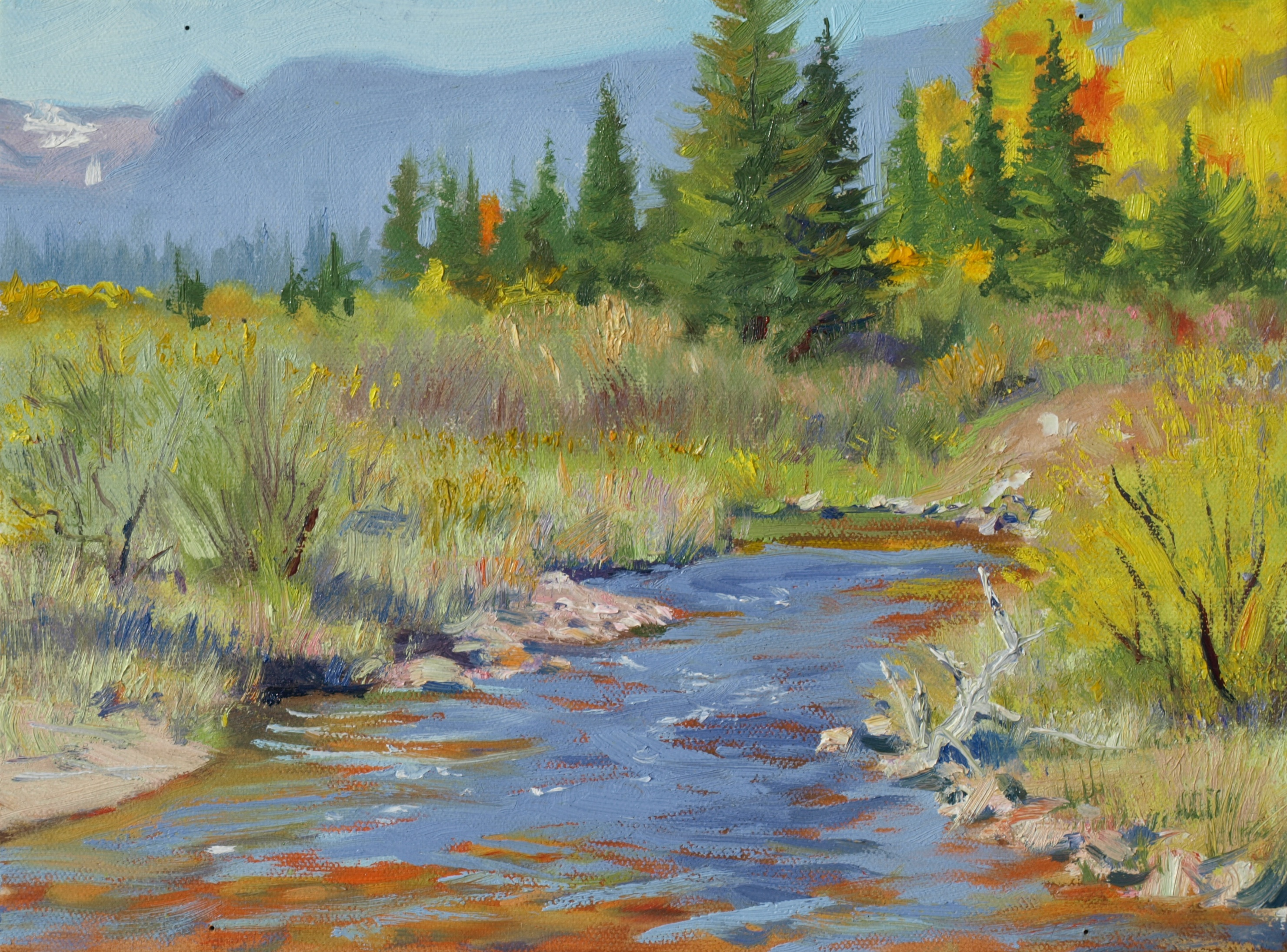 <p>South Fork of Big Creek painted by Michael Charron.</p>