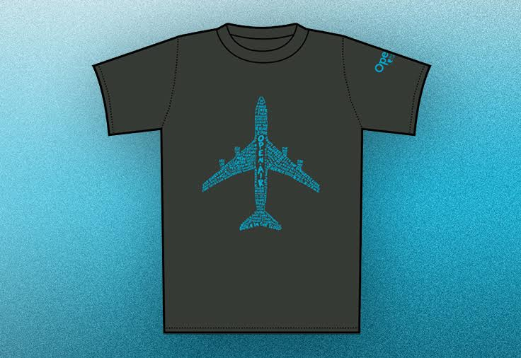 <p>The OpenAir Plane T-Shirt</p>