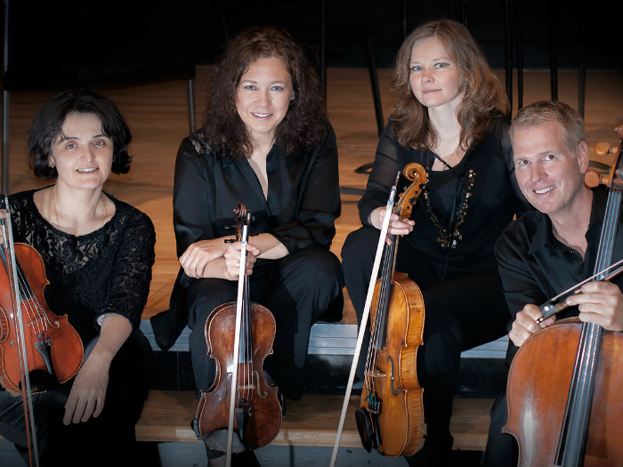 <p>The Veronika String Quartet.</p>