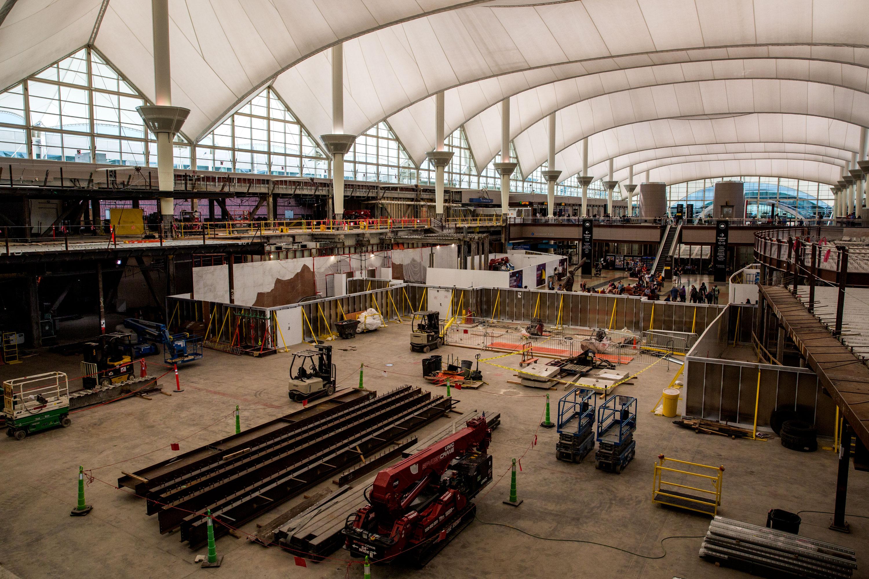 DIA Denver International Airport Passengers Construction