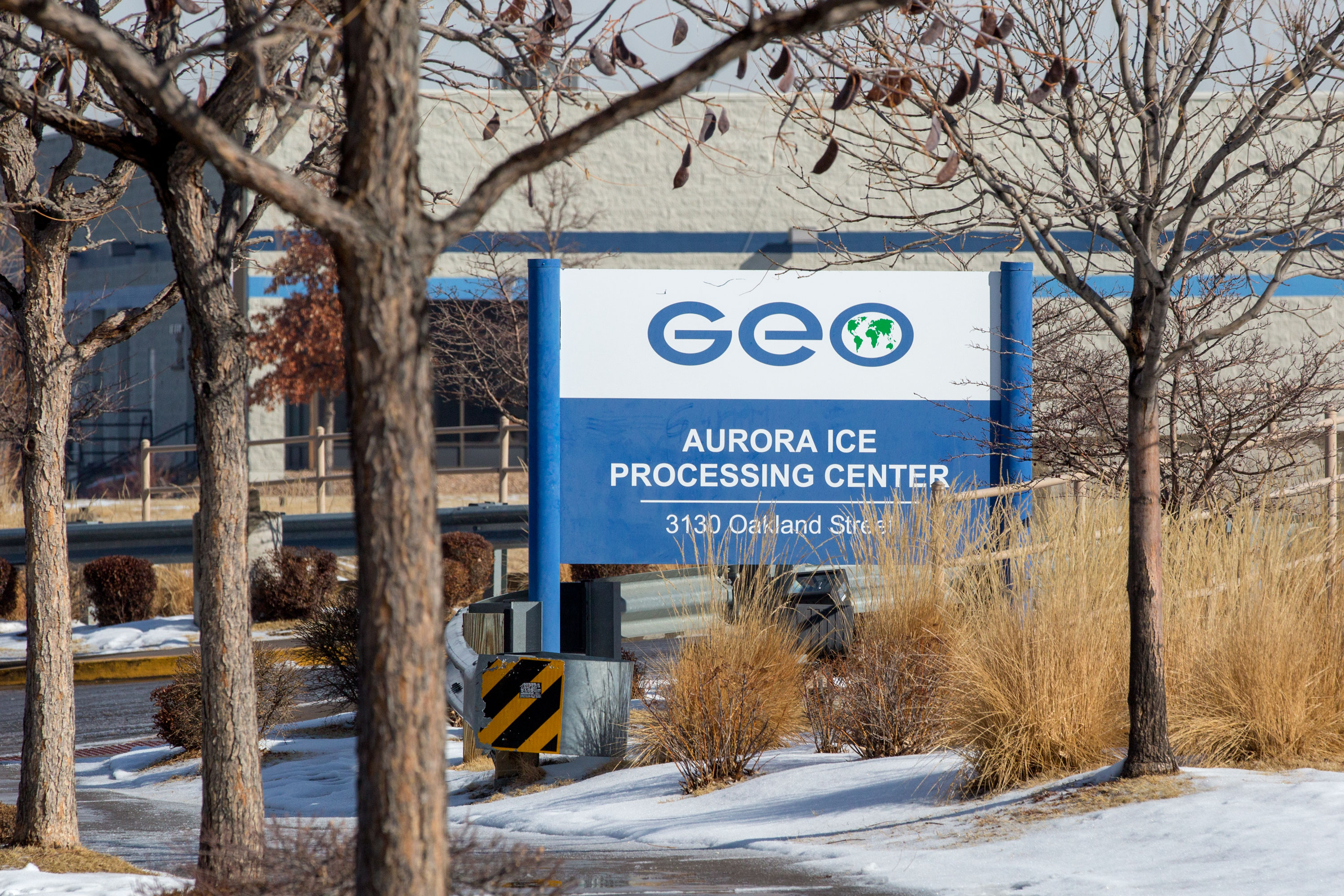 <p>The Aurora GEO ICE detention facility on March 7, 2019.</p>